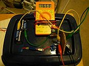 Image: The capacitor booster with the charger diode in place, getting  a slow 18V...