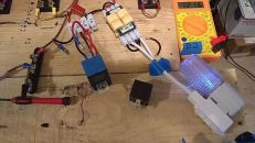 Image: In the Sat. wee hours I got the relay switch wired right (wiggle 1.5) and got the transformer working...
