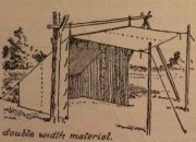 Image: Example of an old school Baker Tent, from Boy Scouts 'Handbook for Patrol Leaders 1949'...
