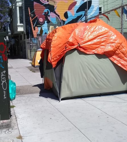 Image: One of many unhoused dwellings somewhere in the Mission...
