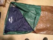 Image: DIY bivy bag with pad and sleeping bag inserted, with enough room for comfort...