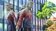 03/10-International Women's Day at the Comfort Women's Memorial, China Town SF...
