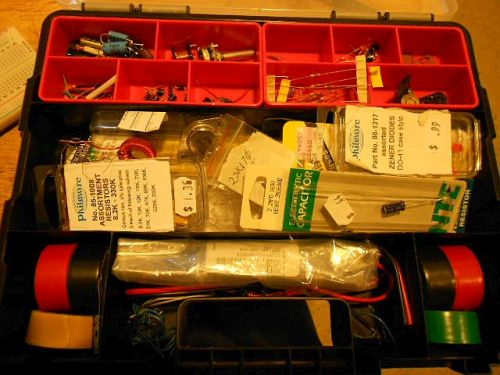 Image: My portable junk drawer for electronic parts...