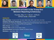 05/17-Journalists of Color in the Trump Era @ DePaul University Career Center, Chicago...